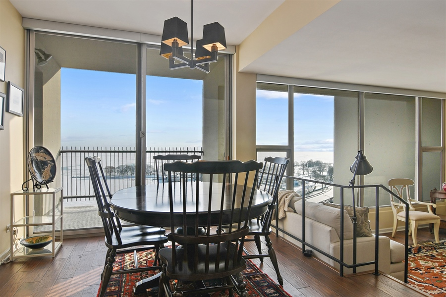 Real Estate Photography - 3200 N. Lake Shore, 1511, Chicago, IL, 60657 - Dining Room