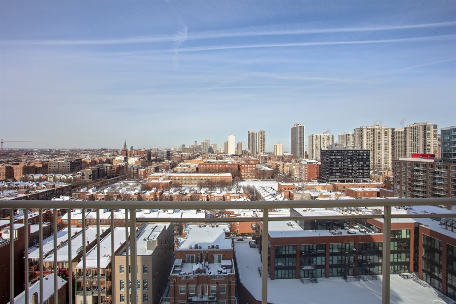 Real Estate Photography - 230 W Division, 1306, Chicago, IL, 60610 - View from Balcony