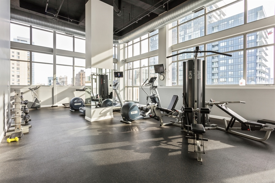 Real Estate Photography - 230 W Division, 1306, Chicago, IL, 60610 - Exercise Room