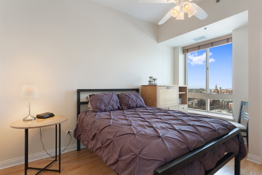 Real Estate Photography - 230 W Division, 1306, Chicago, IL, 60610 - Bedroom