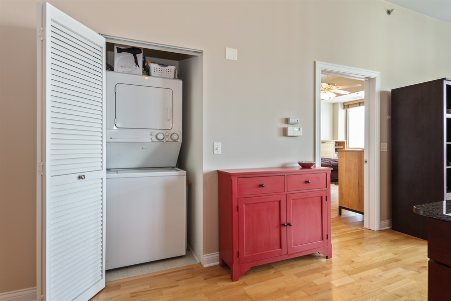 Real Estate Photography - 230 W Division, 1306, Chicago, IL, 60610 - In-Unit Laundry