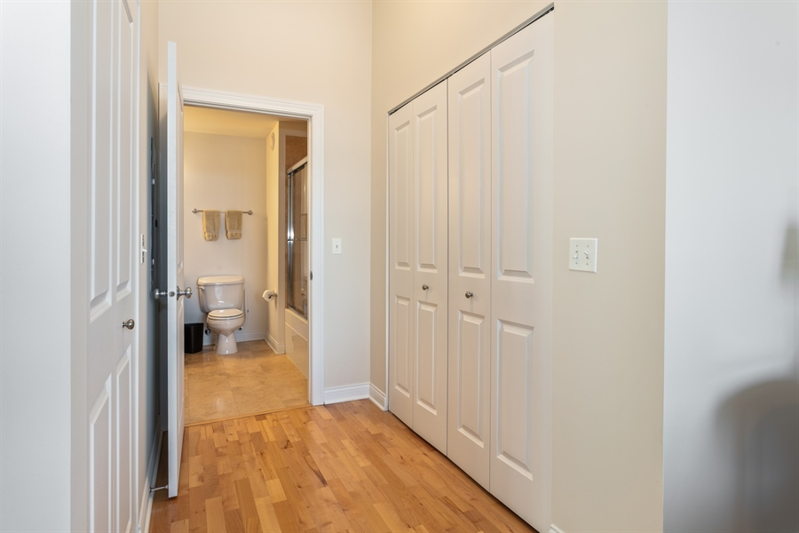 Real Estate Photography - 230 W Division, 1306, Chicago, IL, 60610 - Master Bedroom Dressing Area
