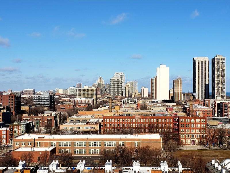 Real Estate Photography - 230 W Division, 1306, Chicago, IL, 60610 - View from Condo Balcony--North