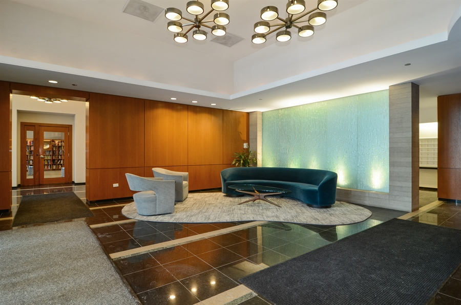 Real Estate Photography - 420 E Waterside Drive, 2403, Chicago, IL, 60601 - The Regatta Newly Updated Lobby