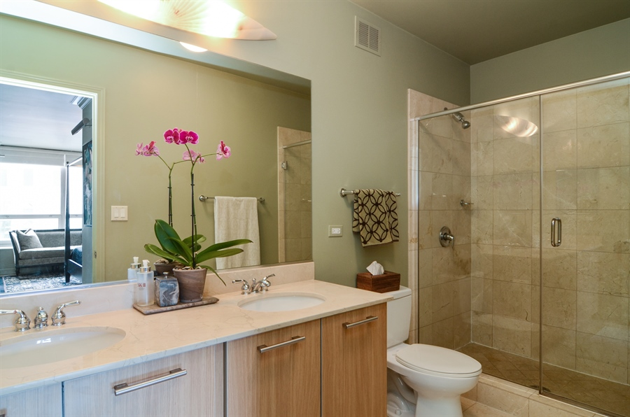 Real Estate Photography - 420 E Waterside Drive, 2403, Chicago, IL, 60601 - Master Bathroom