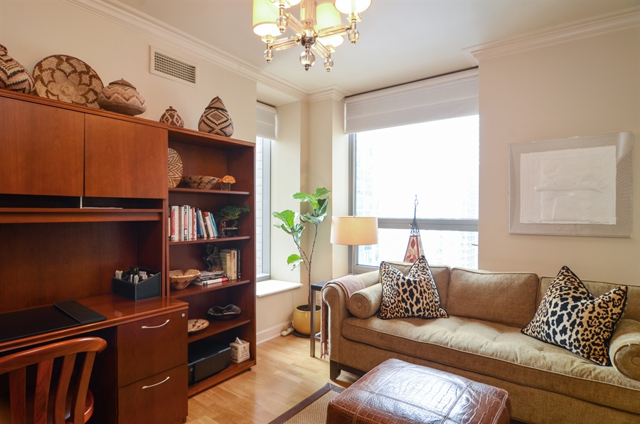 Real Estate Photography - 420 E Waterside Drive, 2403, Chicago, IL, 60601 - Second Bedroom