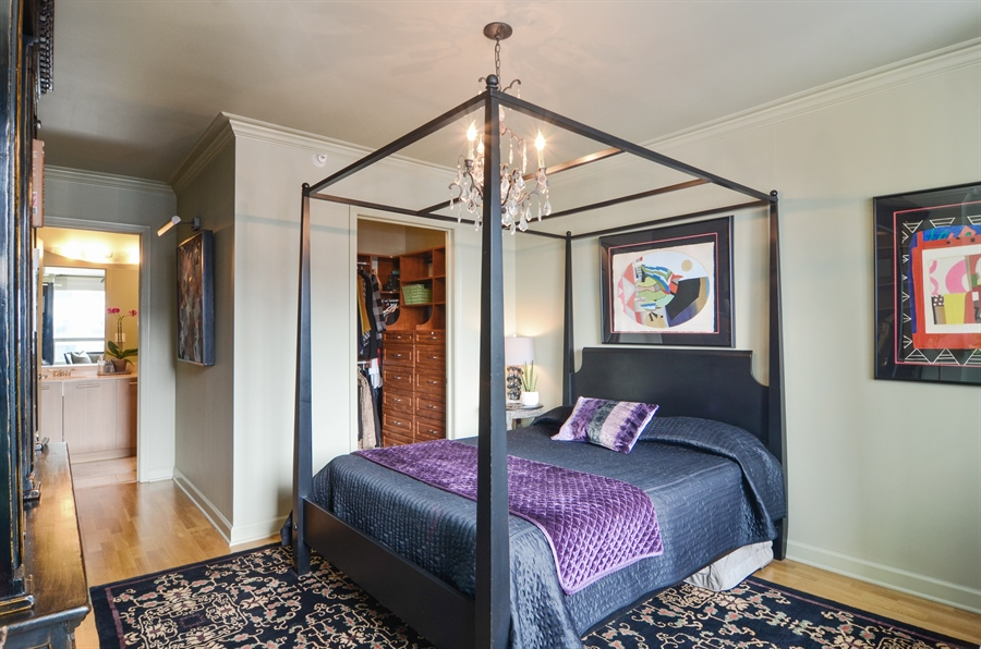 Real Estate Photography - 420 E Waterside Drive, 2403, Chicago, IL, 60601 - Master Bedroom