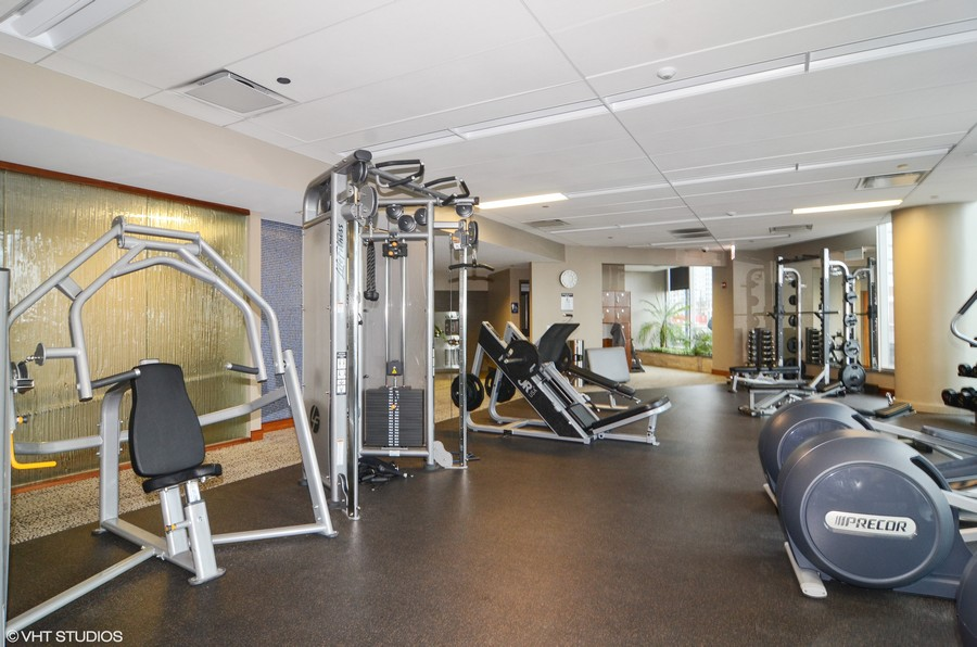 Real Estate Photography - 420 E Waterside Drive, 2403, Chicago, IL, 60601 - Workout Center