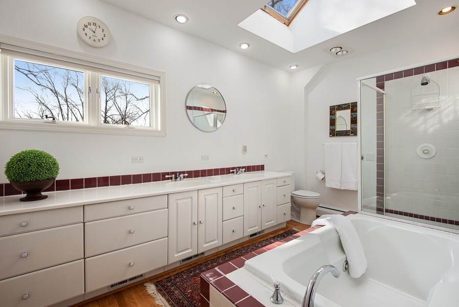 Real Estate Photography - 806 Clinton Place, evanston, IL, 60201 - Master Bathroom