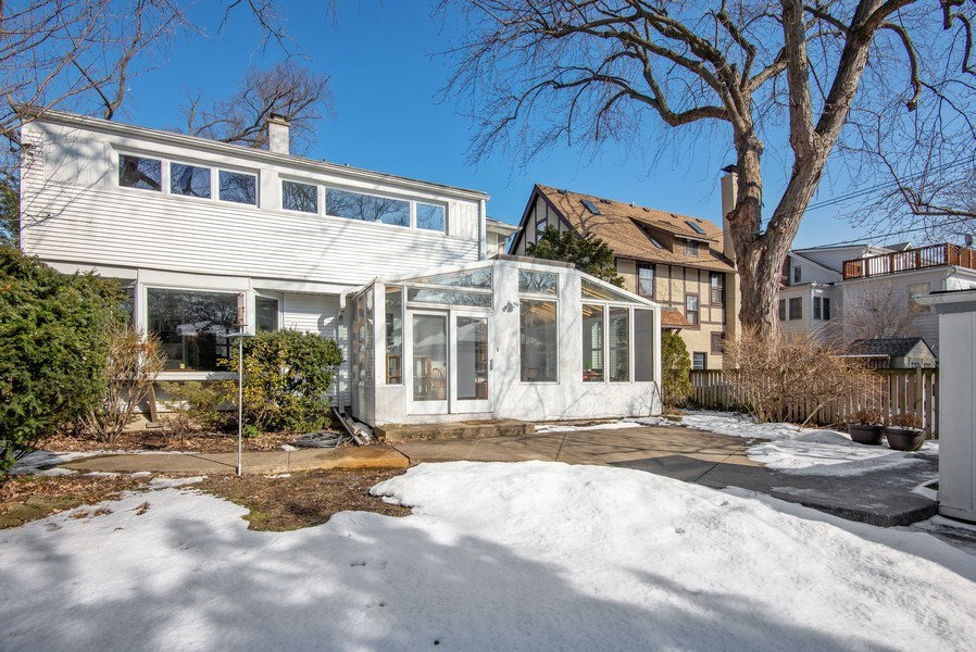 Real Estate Photography - 806 Clinton Place, evanston, IL, 60201 - Rear View