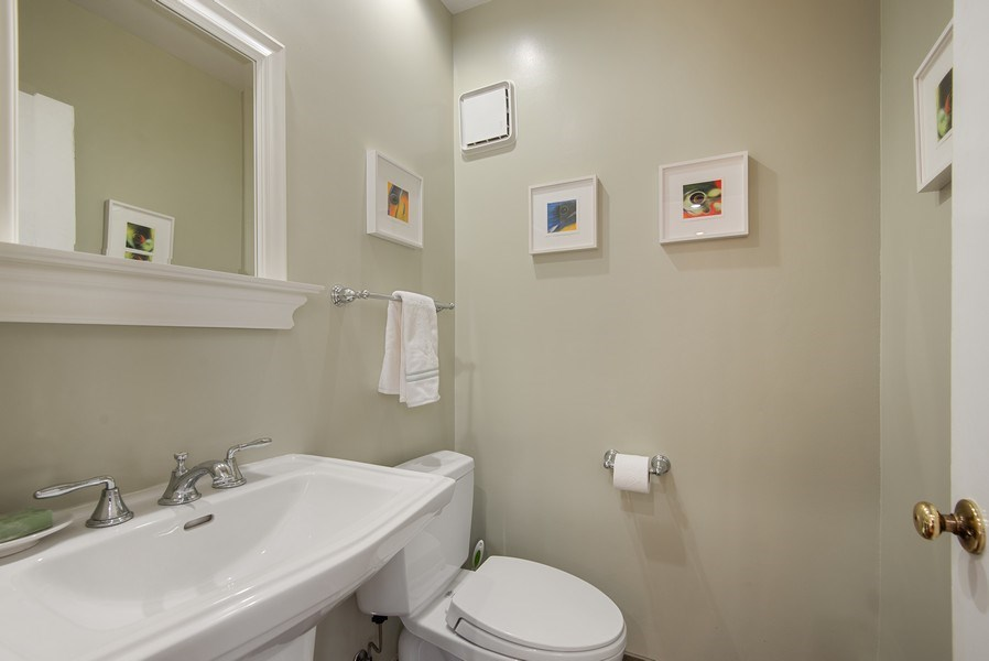 Real Estate Photography - 806 Clinton Place, evanston, IL, 60201 - 1st Floor Powder Room