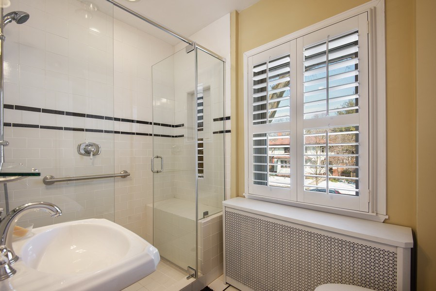 Real Estate Photography - 806 Clinton Place, evanston, IL, 60201 - Hall Bathroom