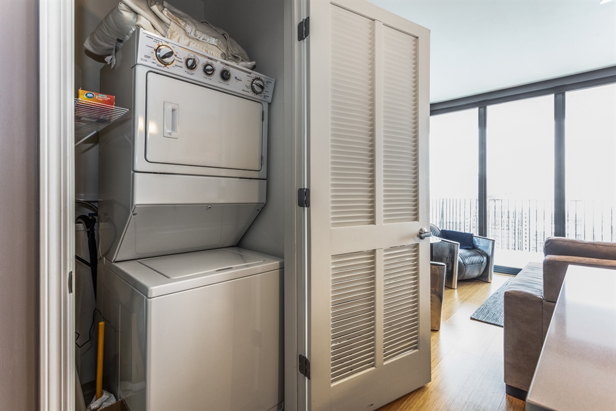 Real Estate Photography - 225 N Columbus, 5406, Chicago, IL, 60601 - Laundry Room