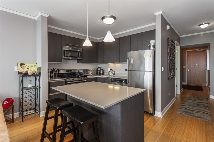 Real Estate Photography - 225 N Columbus, 5406, Chicago, IL, 60601 - Kitchen
