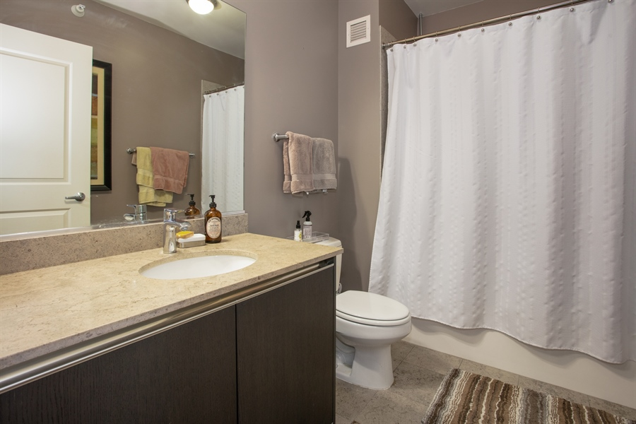 Real Estate Photography - 225 N Columbus, 5406, Chicago, IL, 60601 - Bathroom