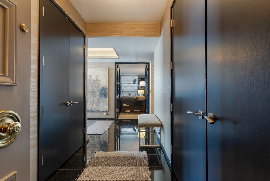 Real Estate Photography - 1040 Lake Shore Dr, Unit 15A, Chicago, IL, 60611 - Entry Into 15A from Vestebule