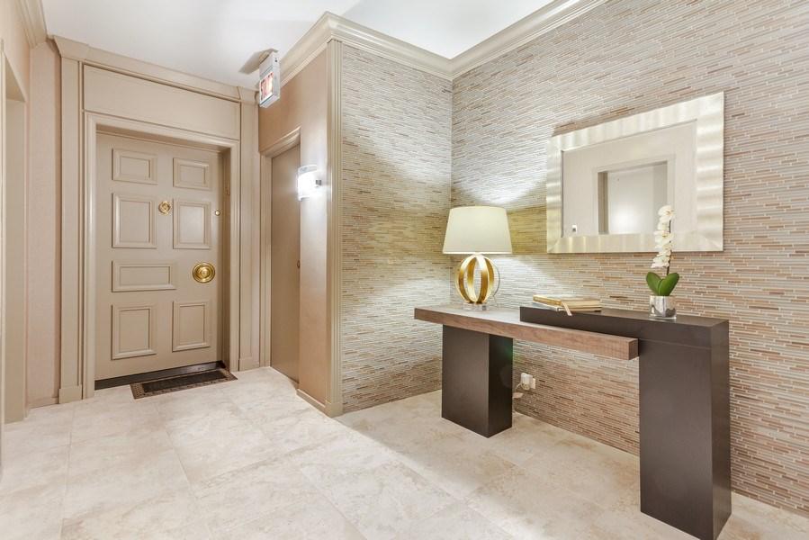 Real Estate Photography - 1040 Lake Shore Dr, Unit 15A, Chicago, IL, 60611 - Floor 15 Vestibule lobby