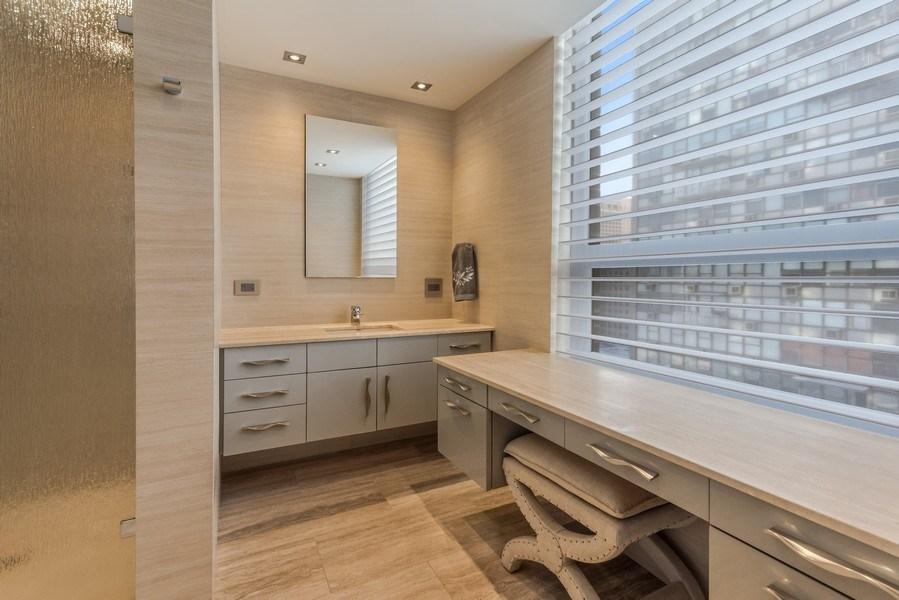 Real Estate Photography - 1040 Lake Shore Dr, Unit 15A, Chicago, IL, 60611 - Master En Suite Bathroom #1