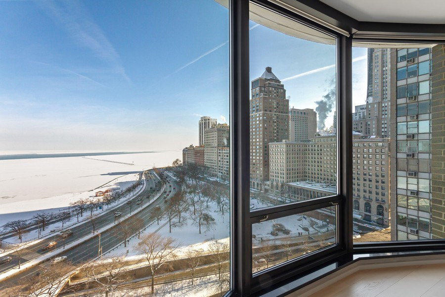 Real Estate Photography - 1040 Lake Shore Dr, Unit 15A, Chicago, IL, 60611 - East Views from Unit