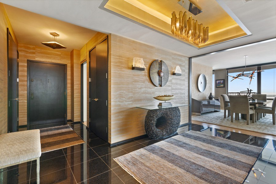 Real Estate Photography - 1040 Lake Shore Dr, Unit 15A, Chicago, IL, 60611 - 15A Foyer