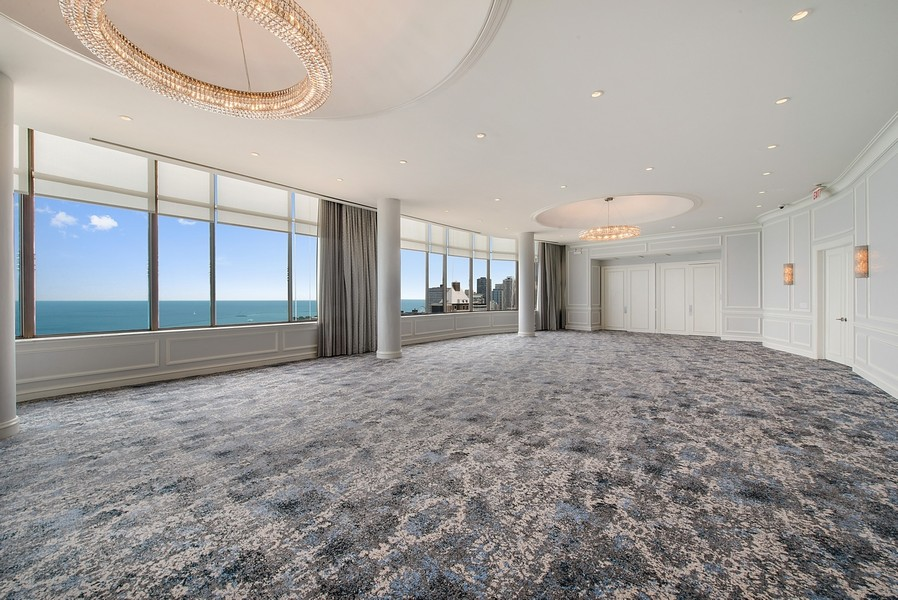Real Estate Photography - 1040 Lake Shore Dr, Unit 15A, Chicago, IL, 60611 - Ballroom / Party Room