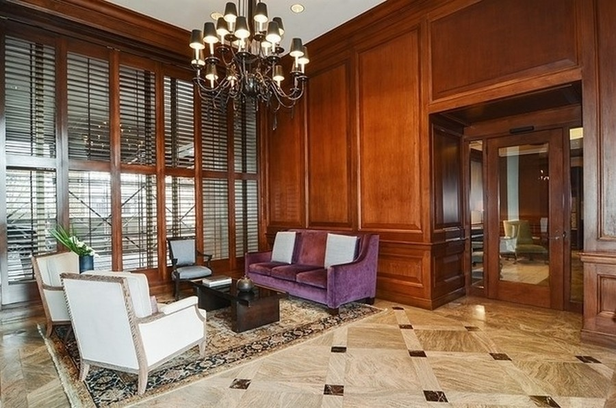 Real Estate Photography - 1040 Lake Shore Dr, Unit 15A, Chicago, IL, 60611 - 1040 LSD Lobby