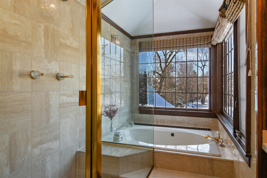 Real Estate Photography - 1041 Locust Rd, Wilmette, IL, 60091 - Master Bathroom