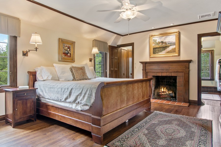 Real Estate Photography - 1041 Locust Rd, Wilmette, IL, 60091 - Master Bedroom
