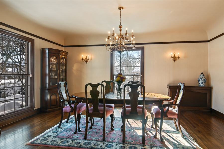 Real Estate Photography - 1041 Locust Rd, Wilmette, IL, 60091 - Dining Room