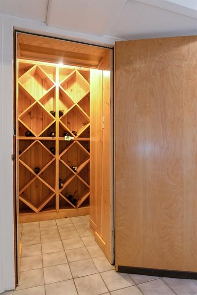 Real Estate Photography - 1041 Locust Rd, Wilmette, IL, 60091 - Wine Cellar