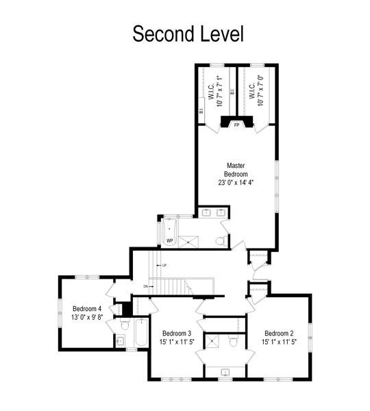 Real Estate Photography - 1041 Locust Rd, Wilmette, IL, 60091 - Floor Plan