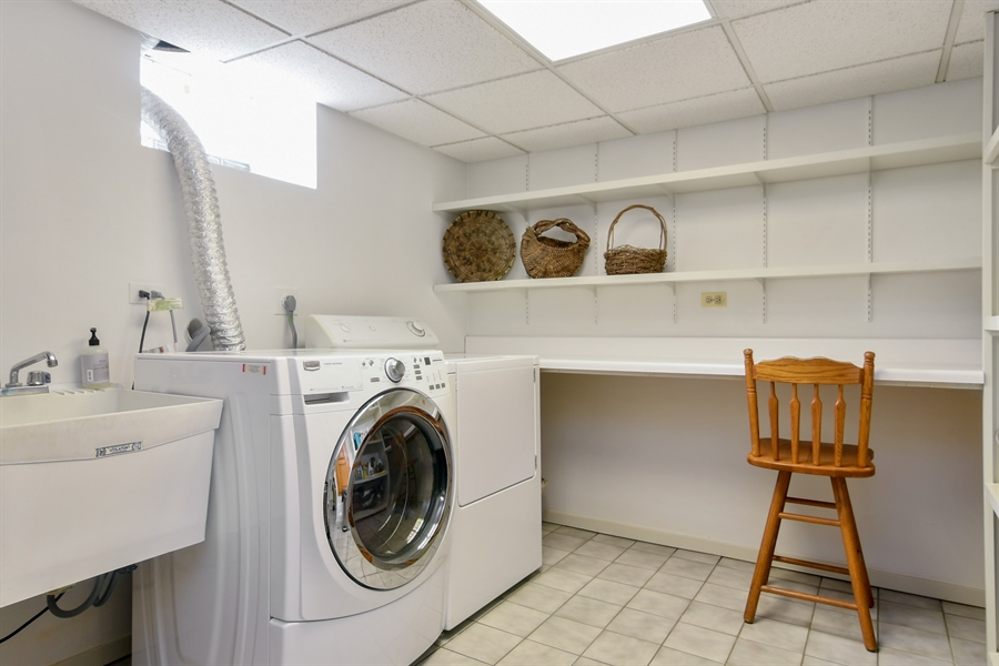 Real Estate Photography - 1041 Locust Rd, Wilmette, IL, 60091 - Laundry Room