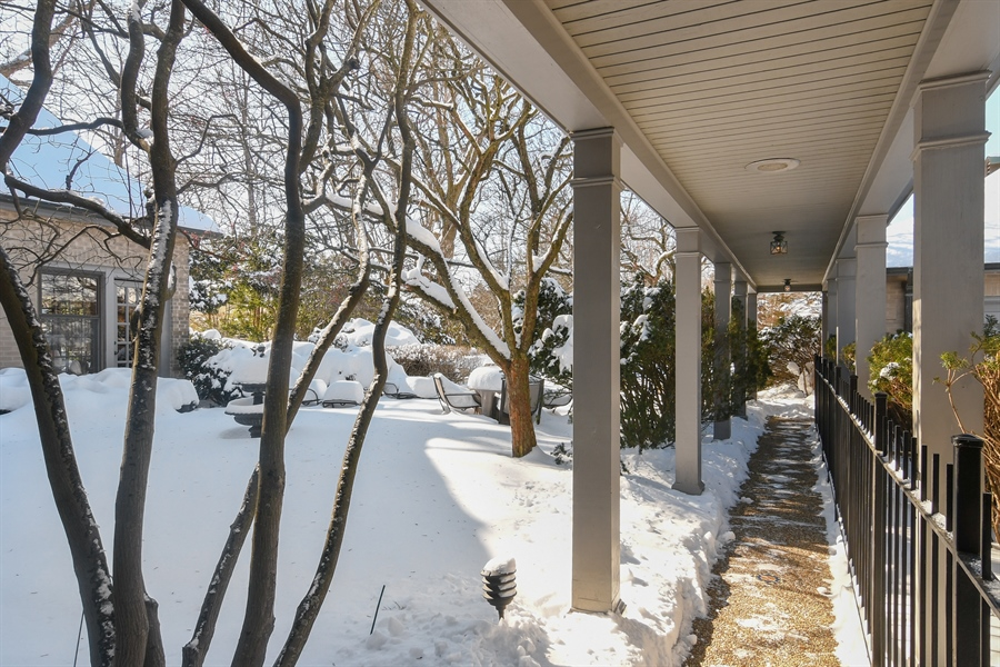 Real Estate Photography - 1041 Locust Rd, Wilmette, IL, 60091 - Side View