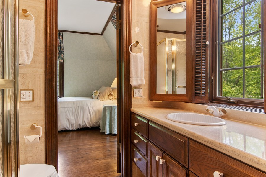 Real Estate Photography - 1041 Locust Rd, Wilmette, IL, 60091 - 2nd Bathroom