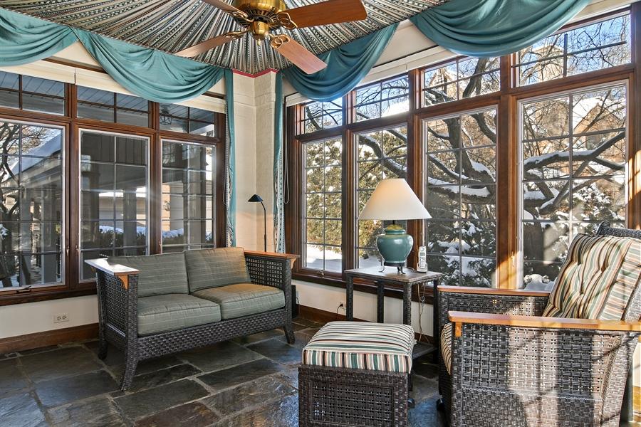 Real Estate Photography - 1041 Locust Rd, Wilmette, IL, 60091 - Sun Room
