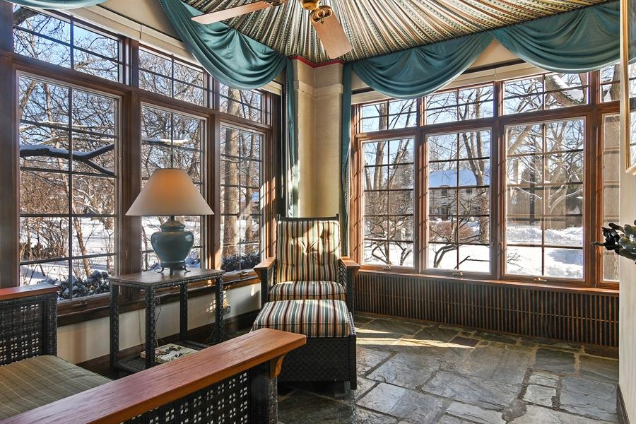 Real Estate Photography - 1041 Locust Rd, Wilmette, IL, 60091 - Sunroom