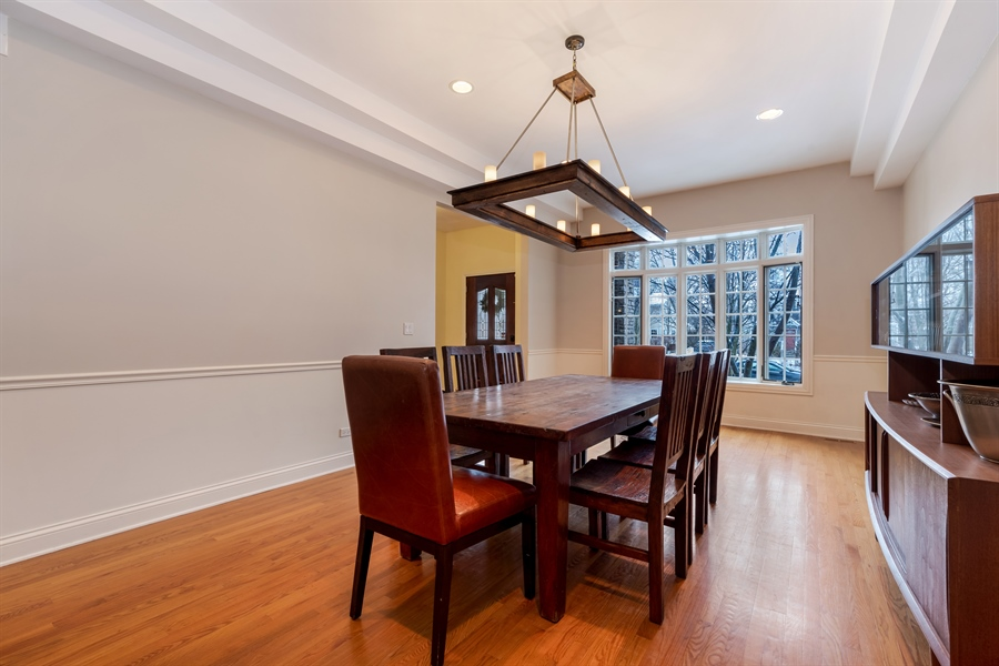 Real Estate Photography - 809 Glenwood Ln, Glenview, IL, 60025 - Dining Room