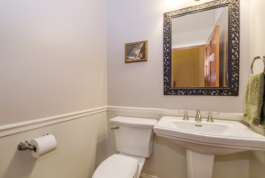 Real Estate Photography - 809 Glenwood Ln, Glenview, IL, 60025 - Powder Room