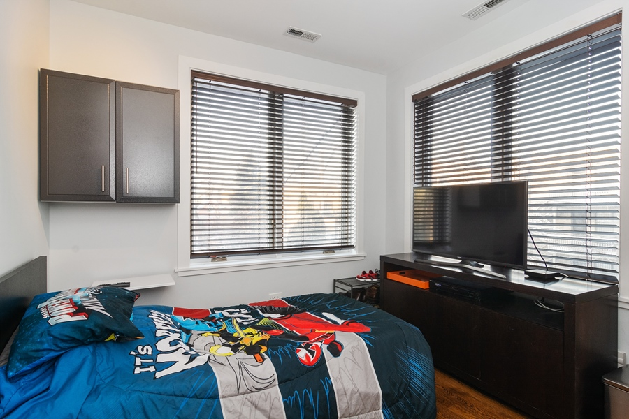 Real Estate Photography - 2020 W Iowa, 3E, Chicago, IL, 60622 - 2nd Bedroom