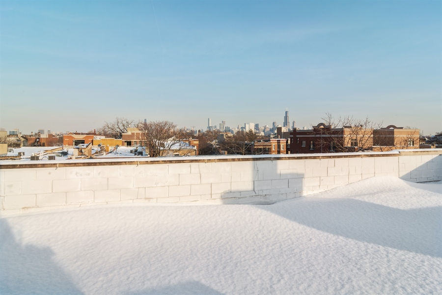 Real Estate Photography - 2020 W Iowa, 3E, Chicago, IL, 60622 - Roof Deck