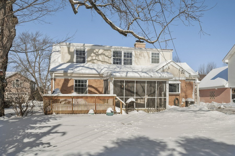 Real Estate Photography - 1733 Stevens Dr, Glenview, IL, 60025 - Rear View