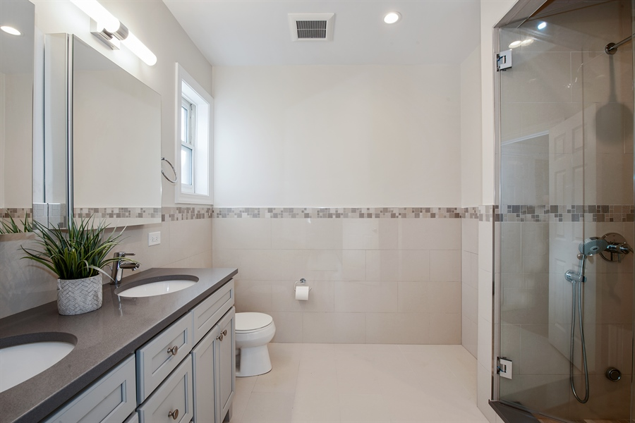 Real Estate Photography - 4745 N Dover St, Chicago, IL, 60640 - Master Bathroom