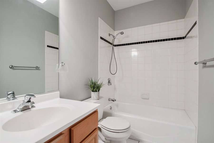 Real Estate Photography - 4745 N Dover St, Chicago, IL, 60640 - 2nd Bathroom