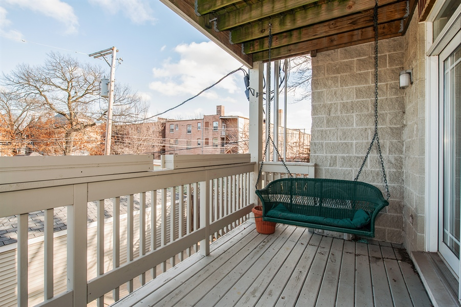 Real Estate Photography - 4745 N Dover St, Chicago, IL, 60640 - Balcony