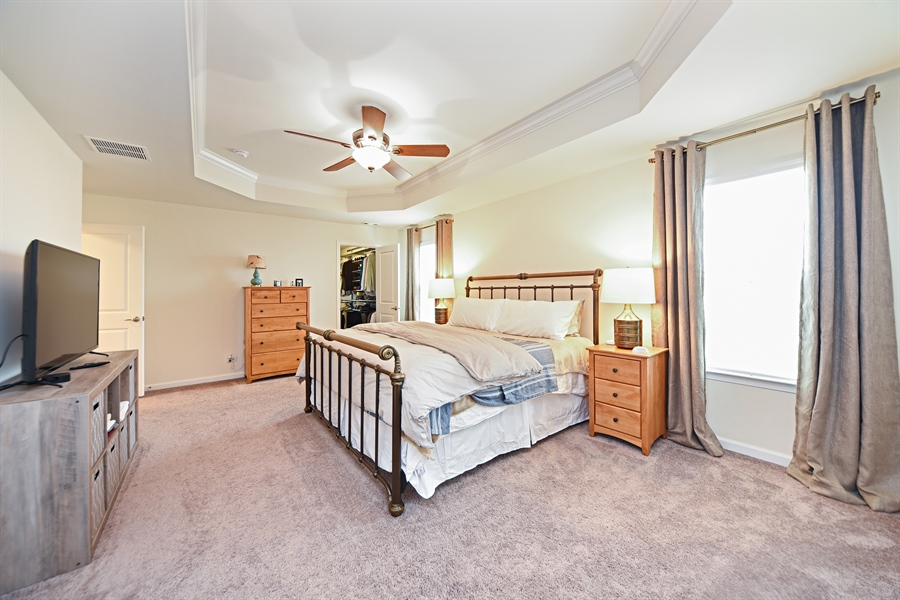 Real Estate Photography - 890 Sunburst Lane, Gilberts, IL, 60136 - Master Bedroom