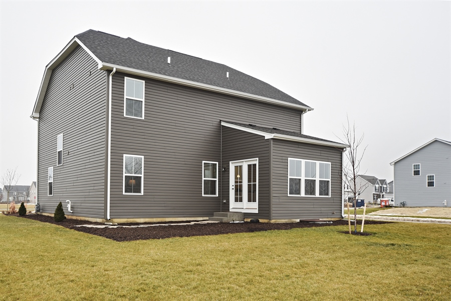 Real Estate Photography - 890 Sunburst Lane, Gilberts, IL, 60136 - Rear View
