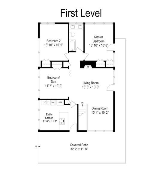 Real Estate Photography - 565 Meadow Rd, Winnetka, IL, 60043 - Floor Plan