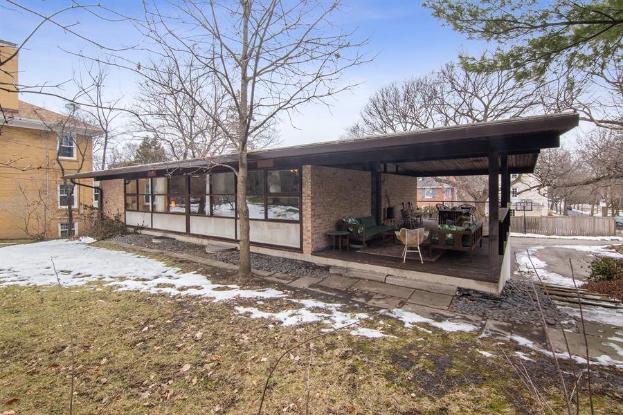 Real Estate Photography - 565 Meadow Rd, Winnetka, IL, 60043 - Rear View