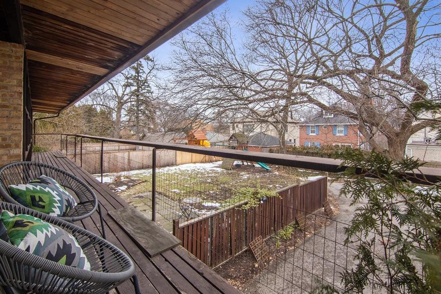 Real Estate Photography - 565 Meadow Rd, Winnetka, IL, 60043 - Deck