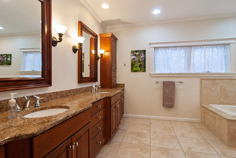 Real Estate Photography - 7310 Holly Ct, River Forest, IL, 60305 - Master Bathroom